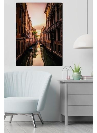 MarkaEv Canvas Şehir Manzara Tablo 0116 Renkli